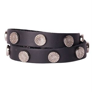 Picture of Black Leather Wrap with Silver Studs
