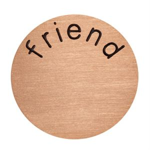 Picture of 'Friend' Large Rose Gold Coin