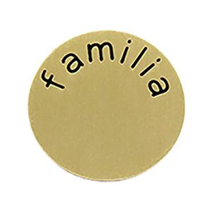 Picture of 'Familia' Medium Gold Coin