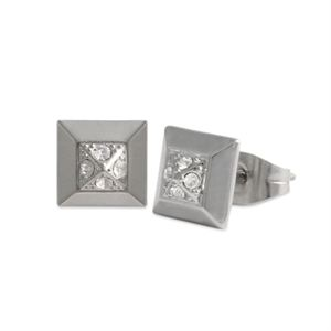 Picture of Crystal Square Silver Earrings