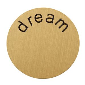 Picture of 'Dream' Medium Gold Coin